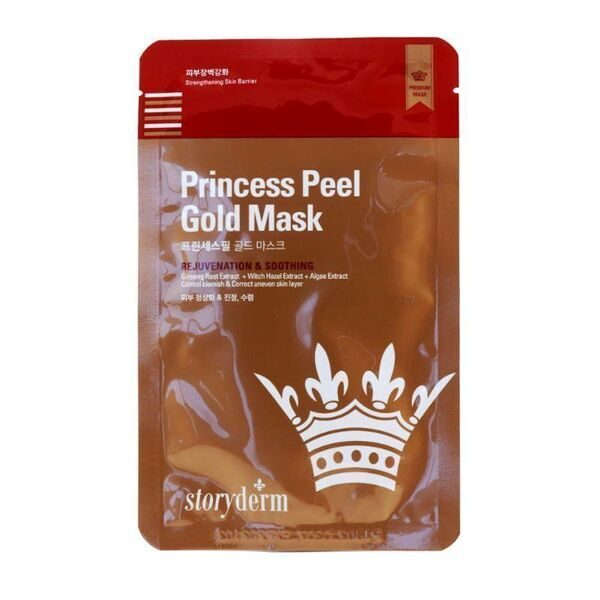Storyderm Антивозрастная маска PREMIUM SHEET MASK PRINCESS PEEL GOLD MASK