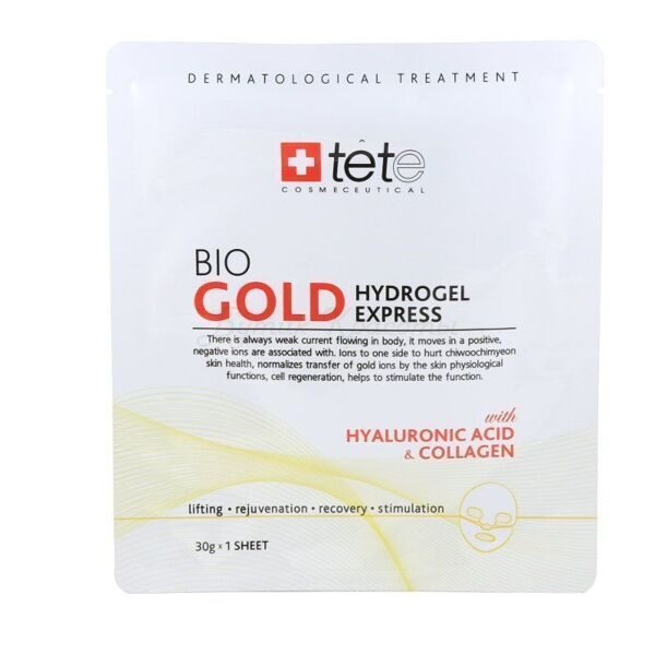 Tete Коллагеновая экспресс-маска Bio Gold Hydrogel Mask